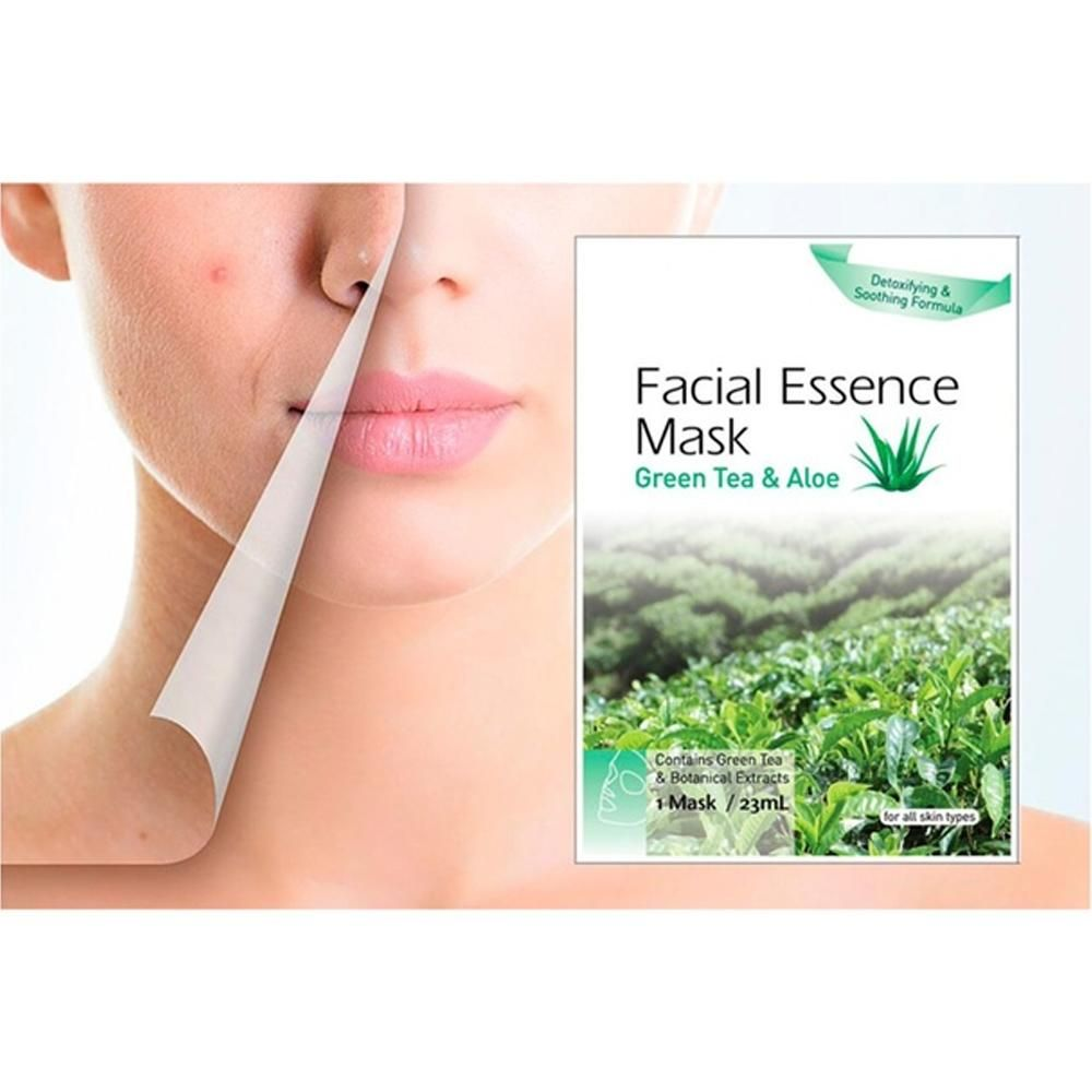 Photo of Natural Green Tea and Aloe Extract Facial Essence Mask – Default Title