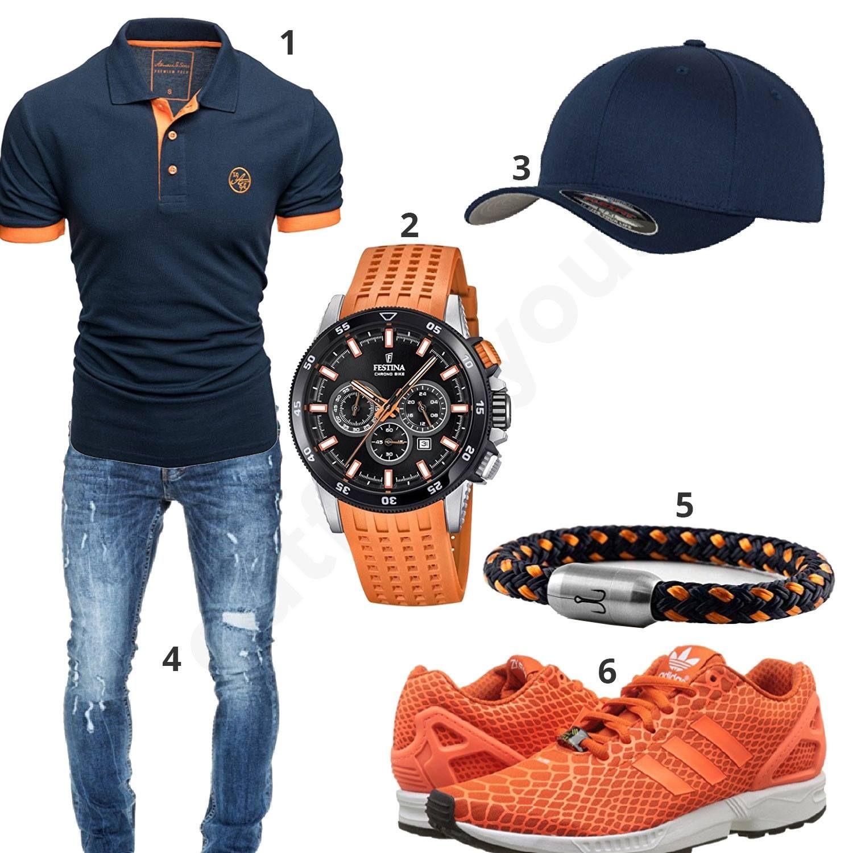Dunkelblaues Outfit mit Festina Chronograph (m0312 | Mens