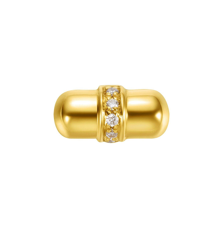 6a428f3b8f7 Amazon.com: Carleen 18k Solid Yellow Gold Dainty Tiny Statement ...
