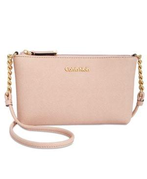 df6faa6c85af Calvin Klein Hayden Mini Saffiano Leather Crossbody - Pink ...