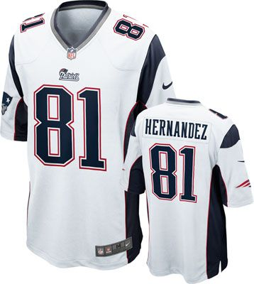 detailed look 04071 7f28f New England Patriots Jersey; Aaron Hernandez Jersey Away ...