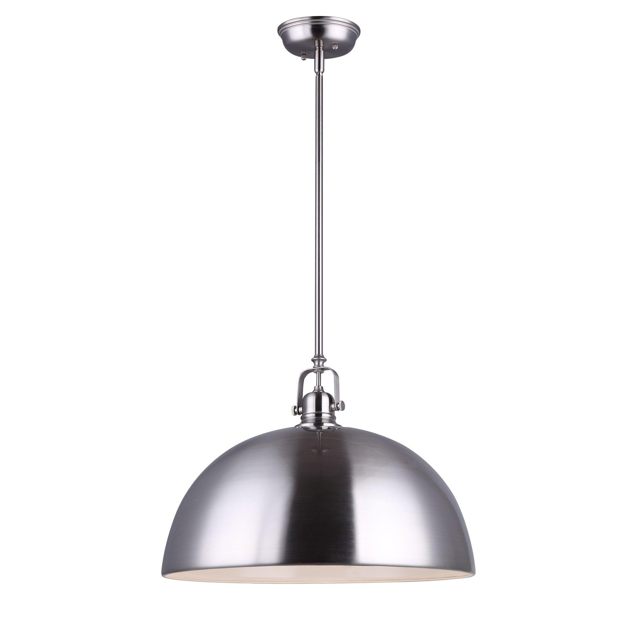 Canarm Ipl222b01bn16 Polo Kitchen And Bar Large Pendant Light Fixture Brushed Nickel Shade Large Pendant Lighting Pendant Light Fixtures Light Fixtures
