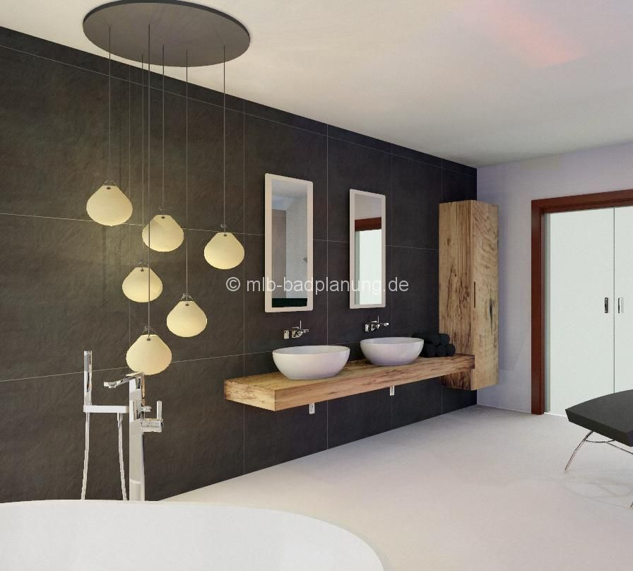 holz im badezimmer heller boden dunkelgraue w nde fliesen pinterest badezimmer holz. Black Bedroom Furniture Sets. Home Design Ideas
