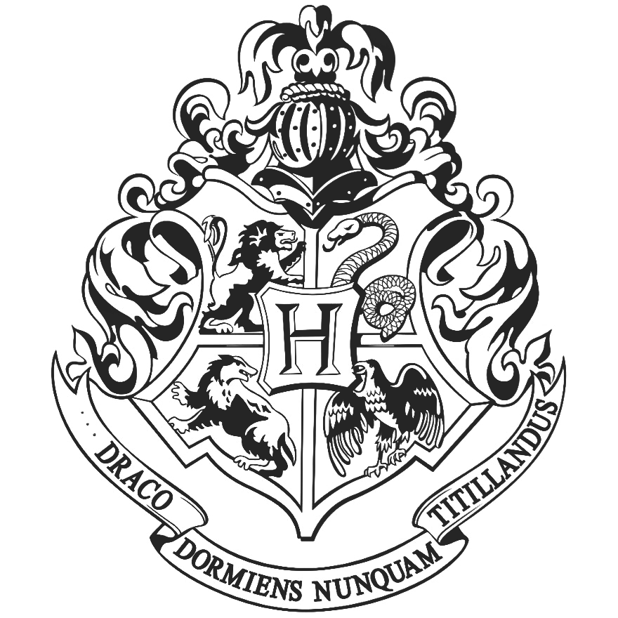 Hogwarts Logo Black And White Png 7 Png Image Logo De Hogwarts Escudo De Hogwarts Tatuajes De Harry