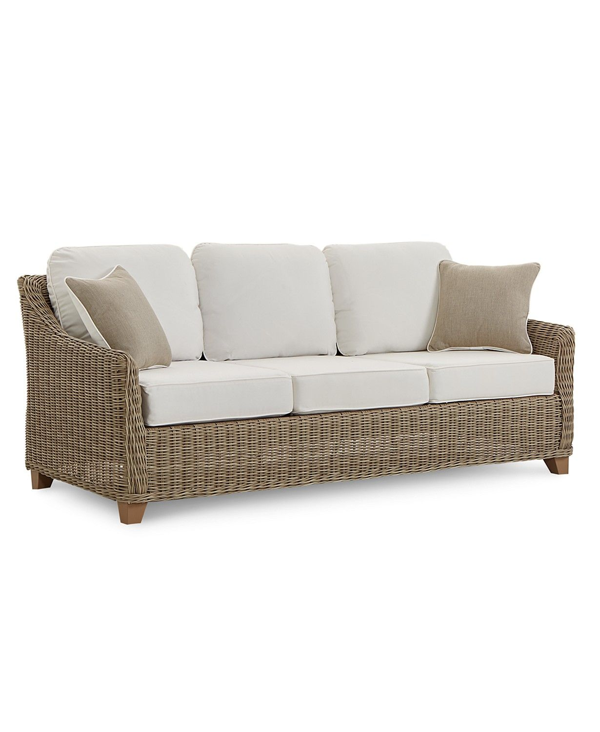Furniture Willough Outdoor Sofa With Sunbrella Cushions Created For Macy S Reviews Furniture Macy S In 2021 Outdoor Furniture Sofa Outdoor Wicker Furniture Outdoor Sofa