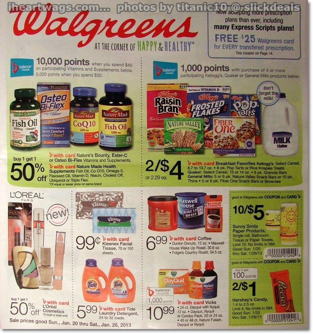 01/20 01/26 Walgreens couponing, Coupon deals