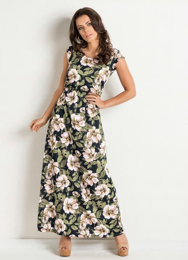 e61e340b1 Vestido Longo (Floral) | Style | Dresses, Fashion e Casual