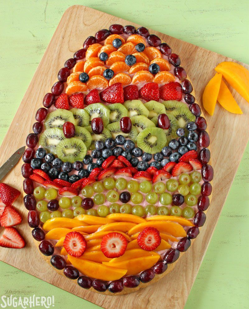 Last week I was talking to Jason about upcoming desserts for the blog, and I mentioned I wanted to do a fruit pizza for Easter.    He furrowed his brow and cocked his head to the side like a curious chihuahua.