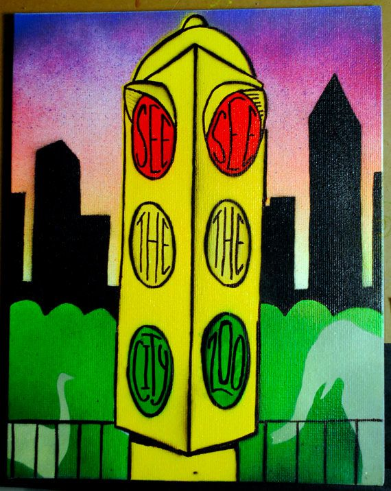 Slave To The Traffic Light 8x10 Canvas Panel By Joseeen On Etsy Ideas