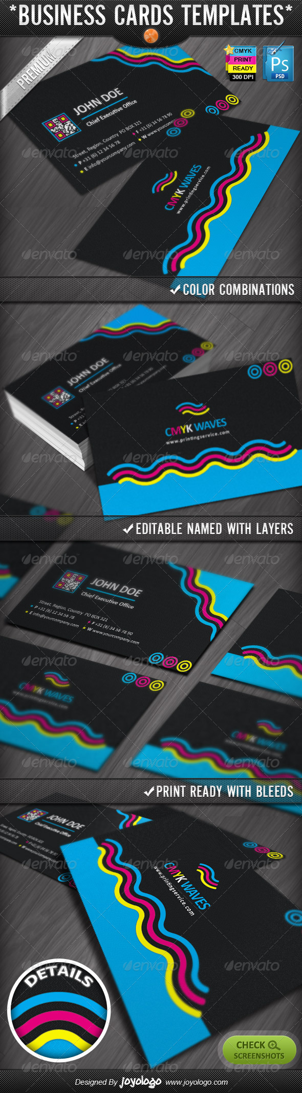 CMYK Colors Print Company Business Cards Design | Printing companies ...