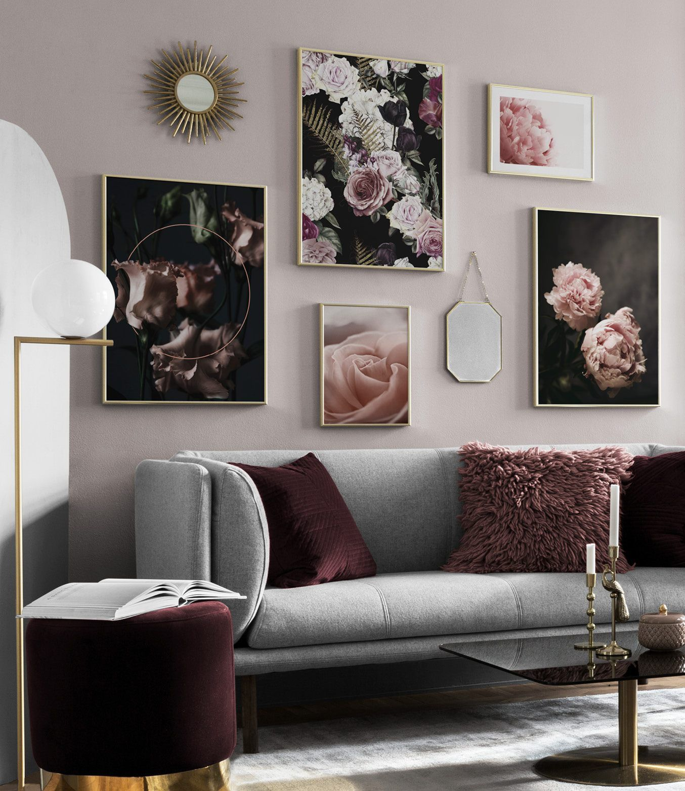 Bilderwand Wohnzimmer wohnzimmer bilderwand | wohnzimmer mit gemischter bilderwand