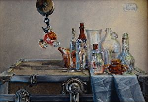Raising A Glass by Debra Keirce in the FASO Daily Art Show
