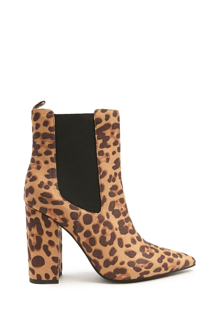 Claudia Bootie | Leopard print ankle boots, Tan ankle