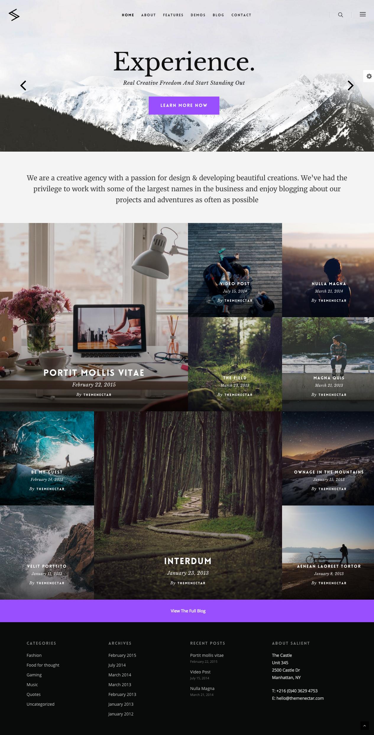 Modern Blog #Wordpress #template | Download http://themeforest.net ...