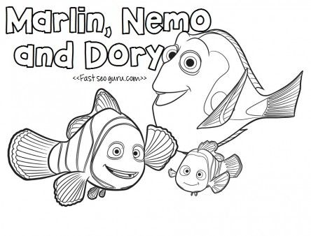 Free Print out #findingdory #movie coloring pages for kids