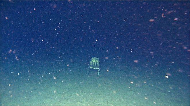 Plastic Chair Deep Sea Dump Rovs Expose Trashed Ocean Floor By Wired Com Scary Ocean Bottom Of The Ocean Ocean