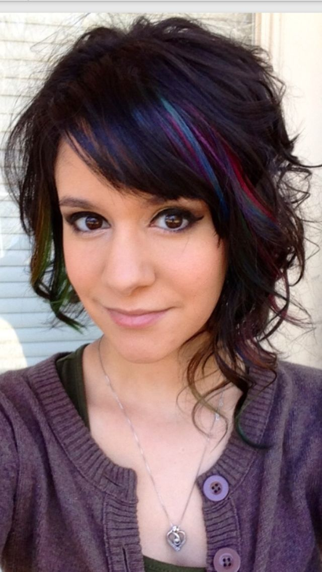 Love For A Subtle Funky Color Pop I Love This Hair Pinterest