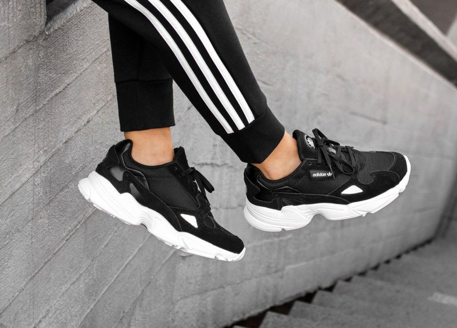 adidas Falcon W | Black adidas shoes, Black adidas, Sneakers