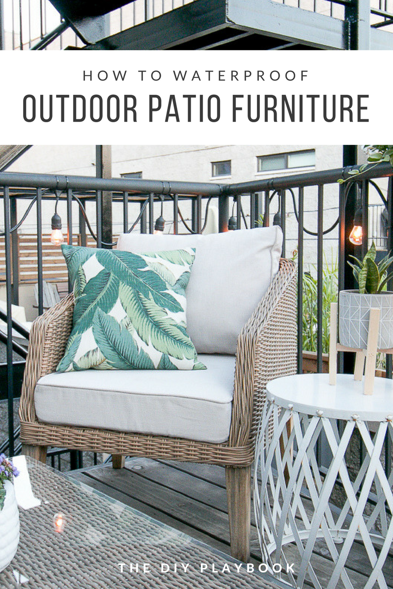 An Easy Way To Waterproof Patio Furniture Patios Pinterest