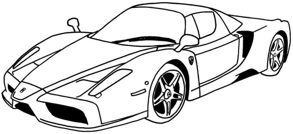 نقاشی و رنگ آمیزی ساده کودکان ماشین Cars coloring