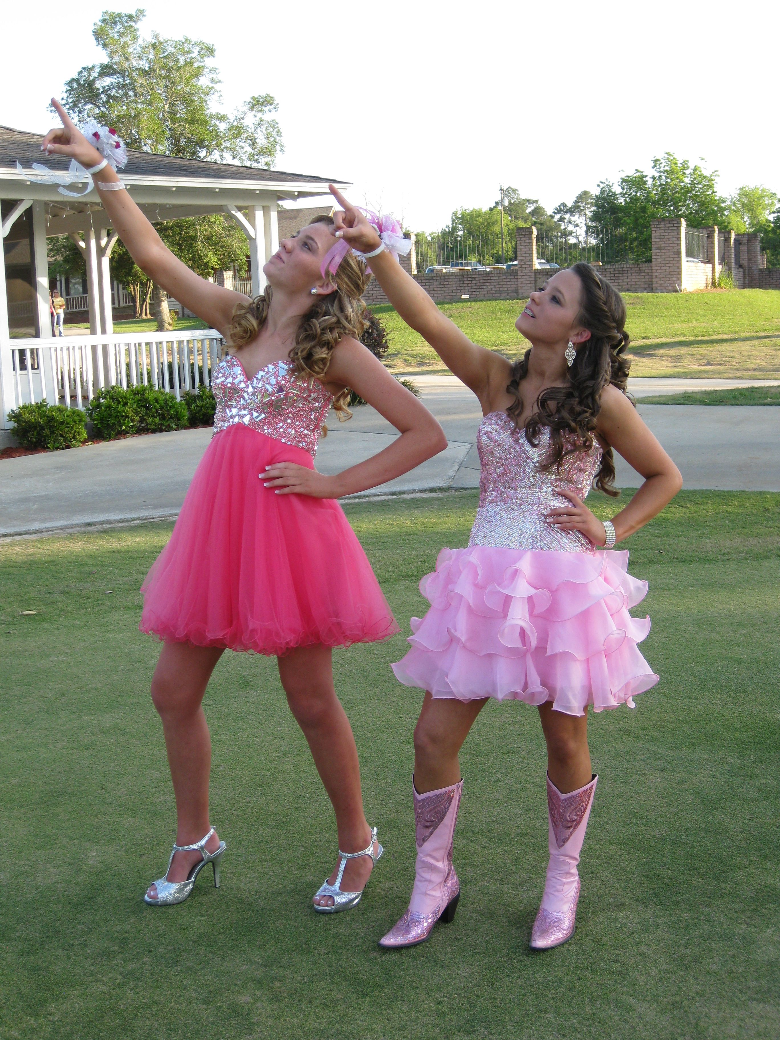 Country Girl Prom Dresses with Boots