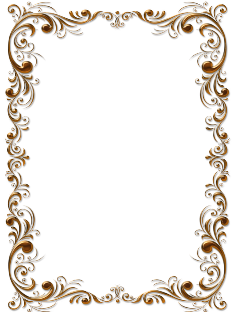 Png Frame Clip Art Borders Book And Frame Gold Frame