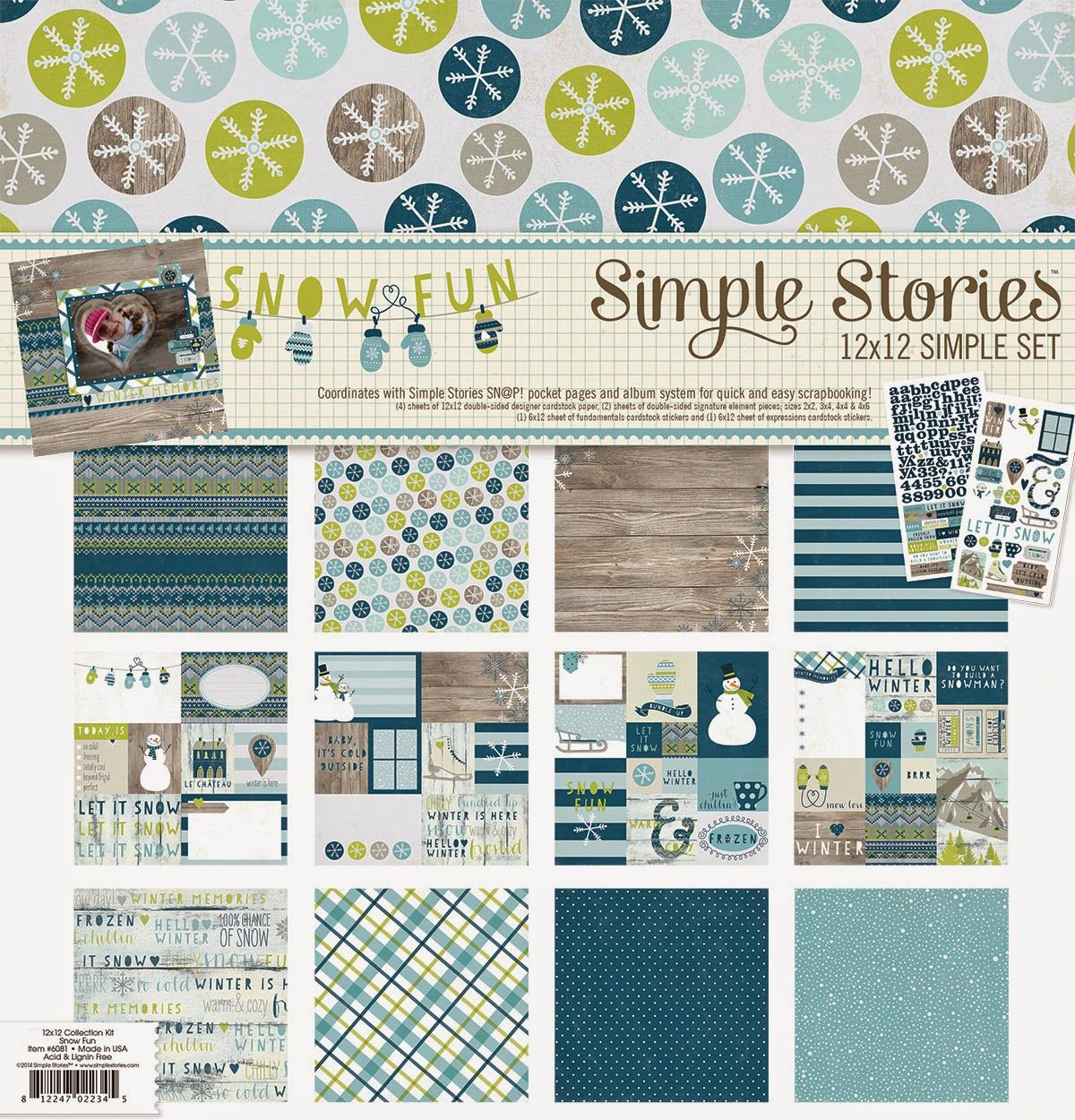 All Scrapbook Steals The Blog Simple Stories Snow Fun Washi