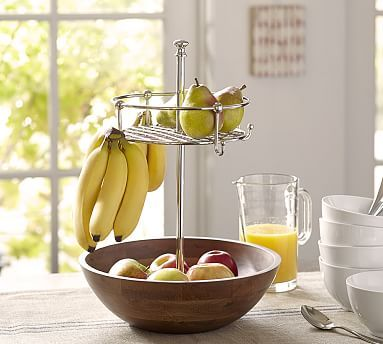Windsor Fruit Bowl With Banana Hooks Potterybarn Fruit