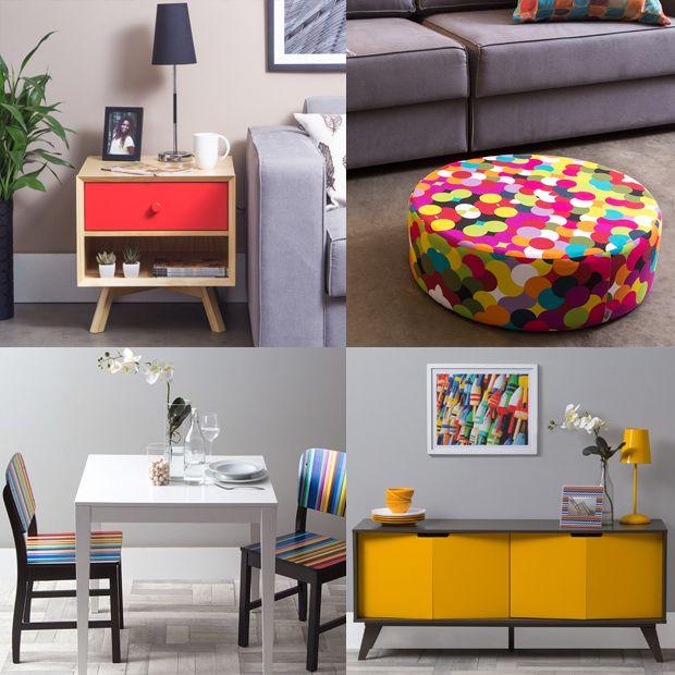 Uma tendência para dar mais vida à decoração da sua casa é usar a técnica dos pontos de cor. Deixe sua casa mais divertida e coloque a ideia em prática!