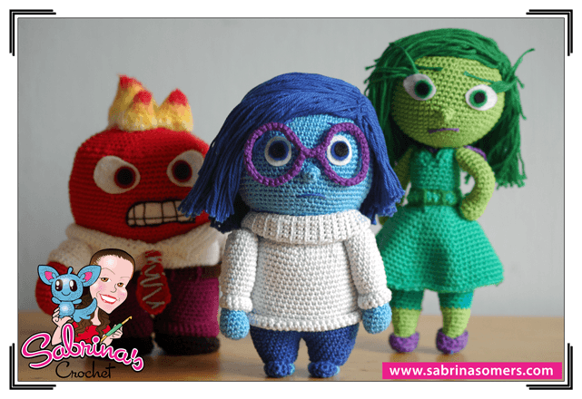 Sadness - Inside Out - Free Crochet Pattern - Amigurumi | Häkeln ...