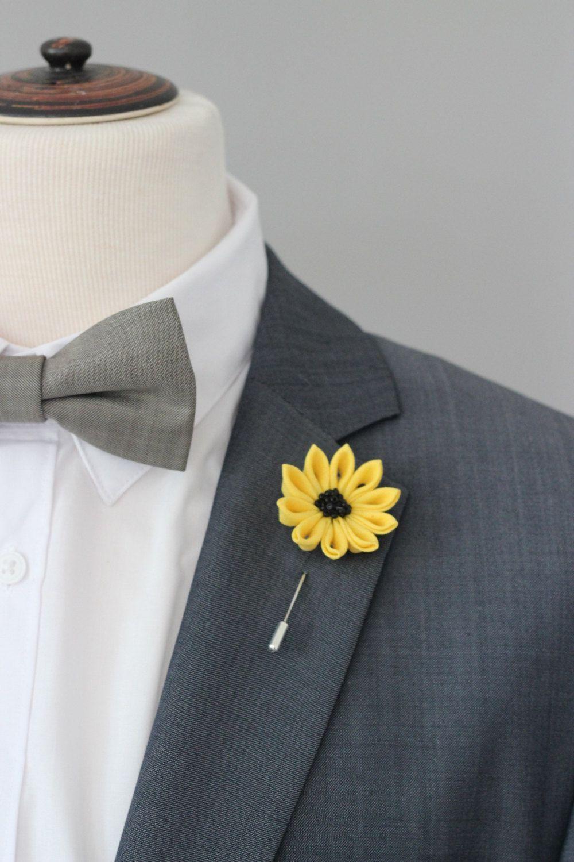 Yellow flower lapel pin mens lapel flower boutonnierered lapel prendedor de flor amarilla flor de la solapa de por nevestica mightylinksfo