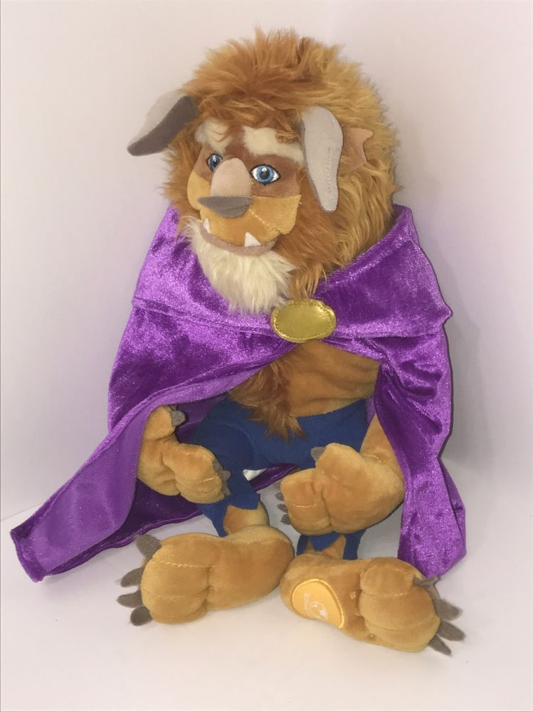 78a4d621d5 Disney Beauty and The Beast Plush Doll 14 034 Purple Cape