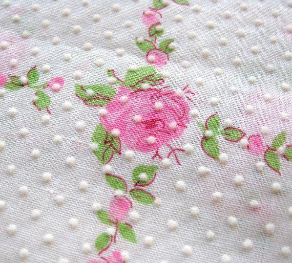 Dots Collection Shabby chic Chiffon flower Printed Shabby Flower Blue Dots Printed on Pink Shabby Flower Shabby trim