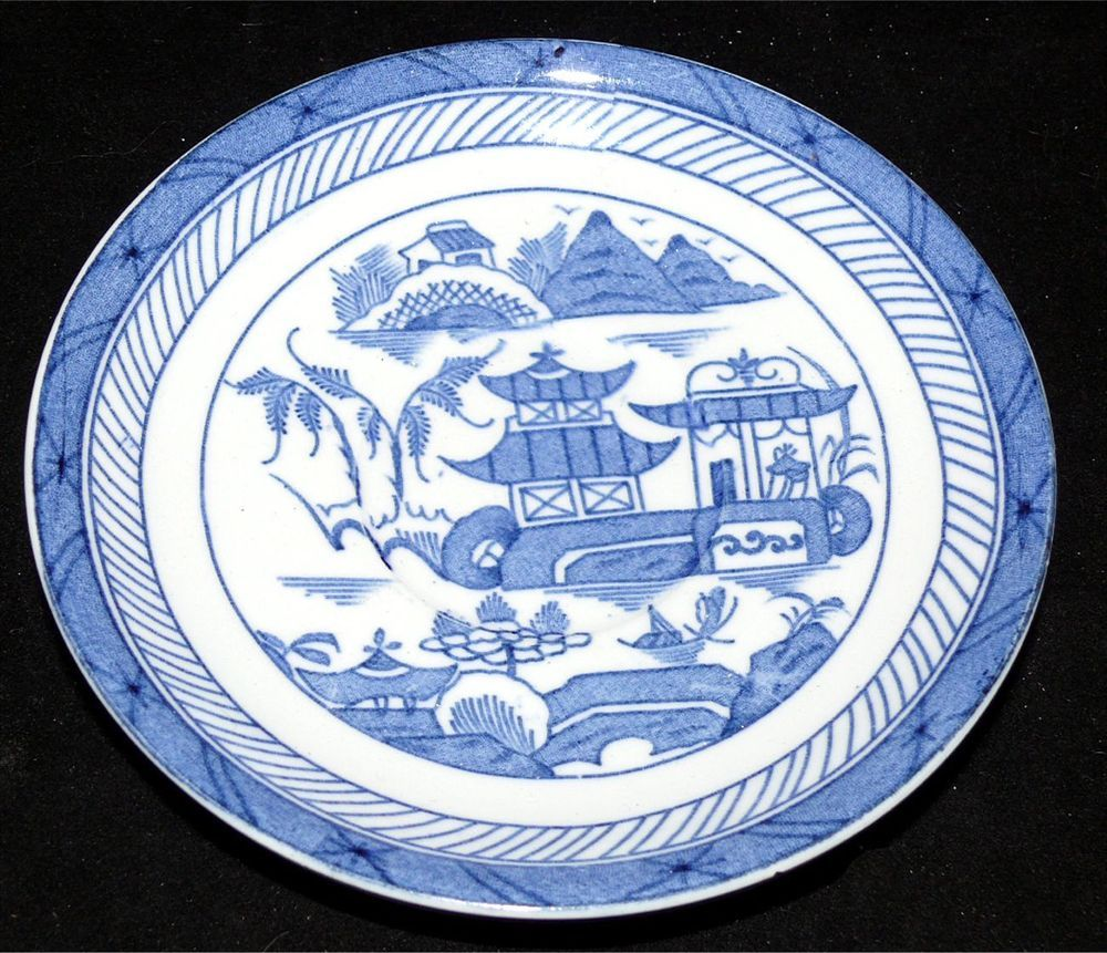 "Adams Venetian Scenery 8 3//4/"" Bowl Flow Blue Antique W"