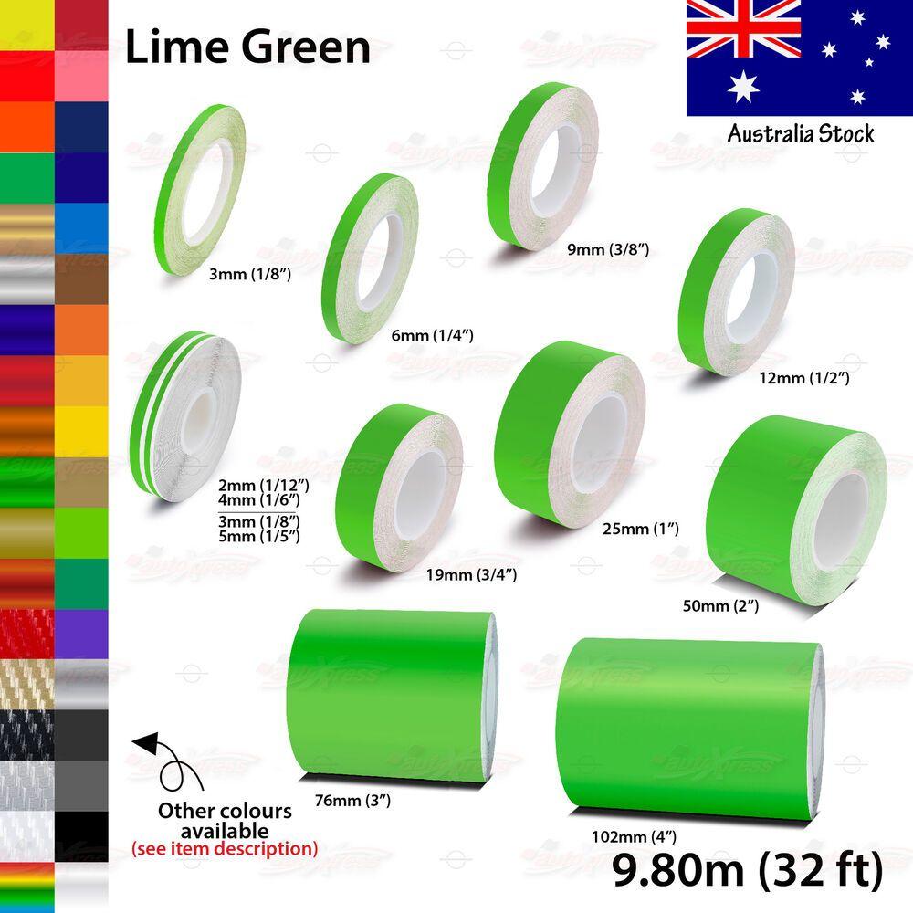 Lime Green Roll Vinyl Pinstriping Pin Stripe Car Motorcycle Tape Decal Stickers Pinstriping Green Chrome Car Pinstriping