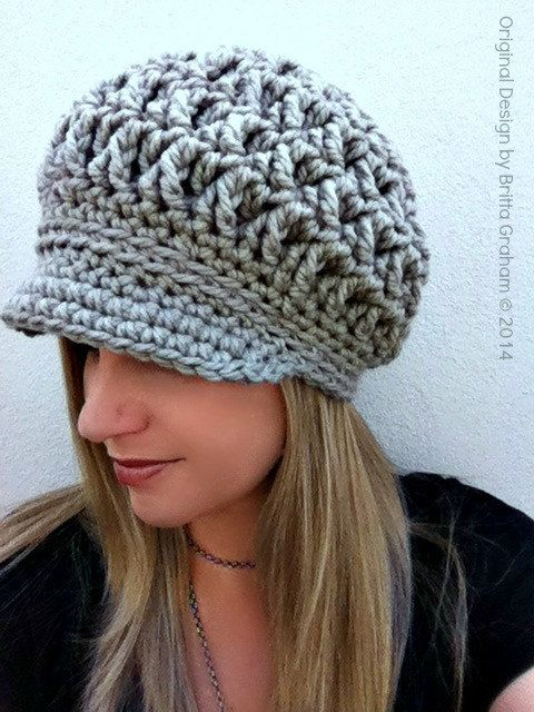 Newsboy Crochet Hat Pattern for Super Bulky yarn - The Chunksta - Crochet  Pattern No.220 Digital Download English 35dcb1bbe47a