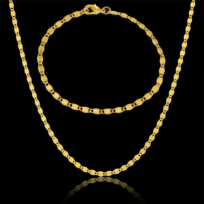 Embossing Stamp Gold Plated Nigerian Indian Jewelry Set For Women ...