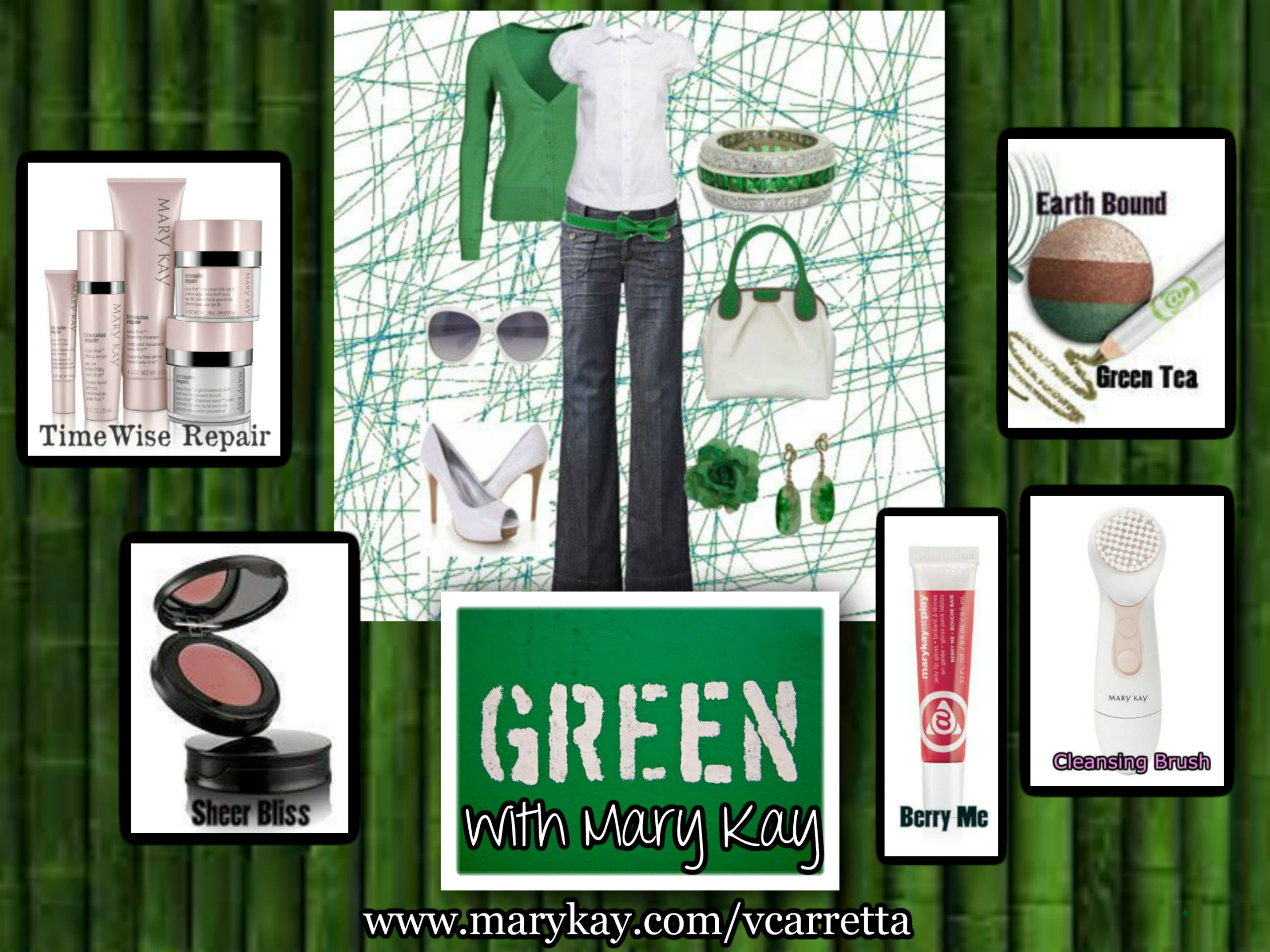 Show your green for St. Patty's Day Mary Kay style!  ORDER:  www.marykay.com/vcarretta