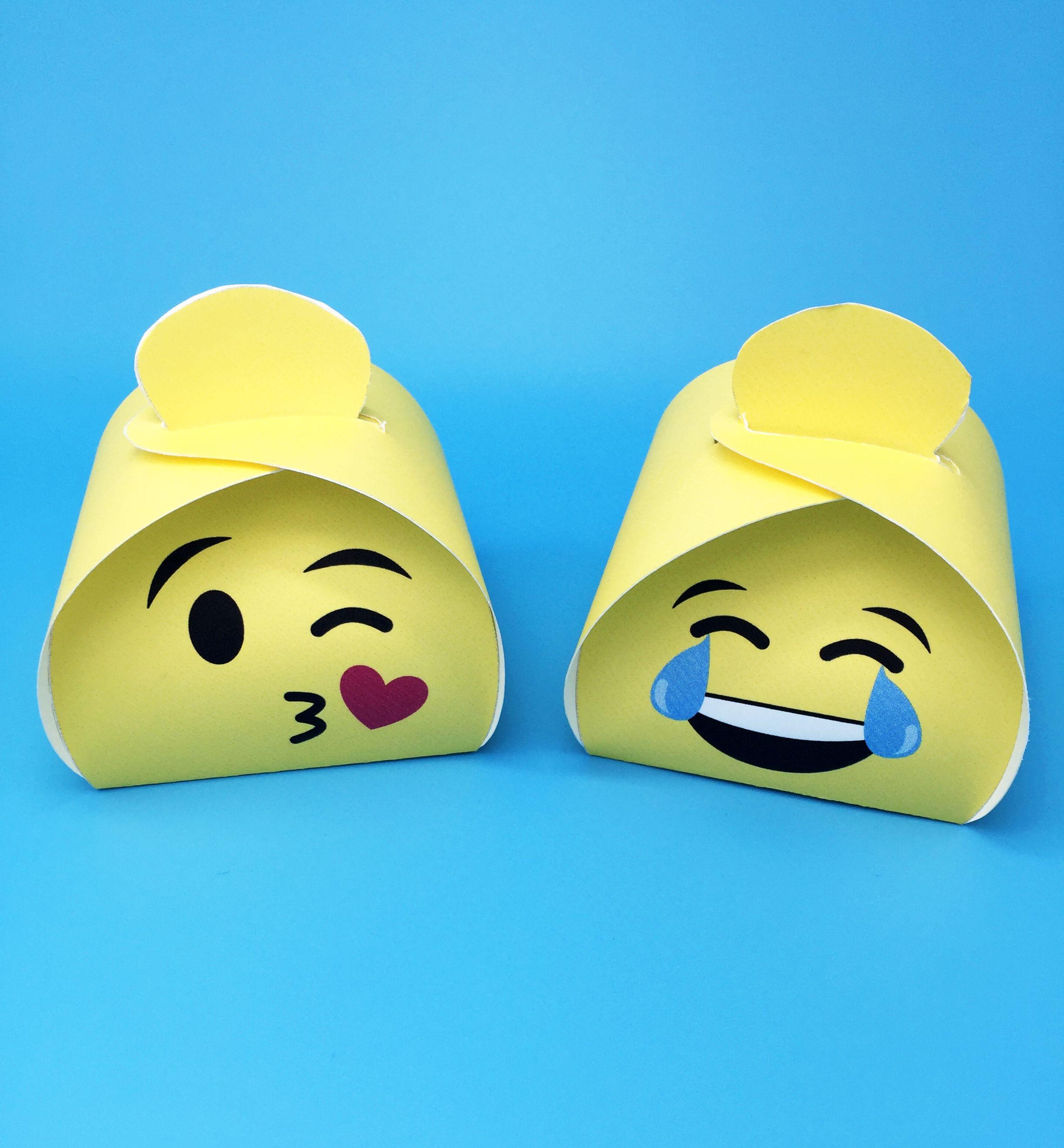 Emoji T Boxes Printable Set Of 6 Characters Diy Favor