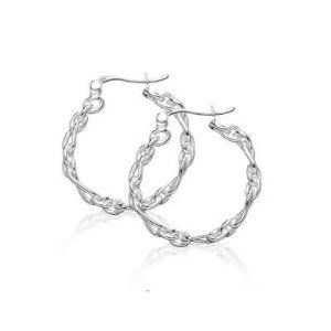 Stylish Jewelry Hoop Earrings 925 Sterling Silver with Polished Interlocking Links Design - Incl. ClassicDiamondHouse Free Gift Box & Cleaning Cloth ClassicDiamondHouse. $28.64. Wow! Receive Item Packed In A Nice Box/With A FREE JEWELRY Care CLOTH. This earrings will be graciously placed inside a dainty box. Best surprise gift to your loved ones that would bring fondness to their faces. No Bulk Or Heaviness Only The Sparkel Reminds You That You Are Wearing Something....