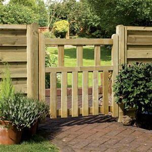 Pale Infil Wooden Garden Gate | Garden gate design, Wooden ...