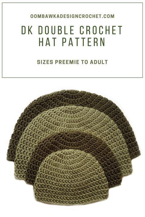Dk Double Crochet Hat Pattern Crochet Beanie Pinterest Double