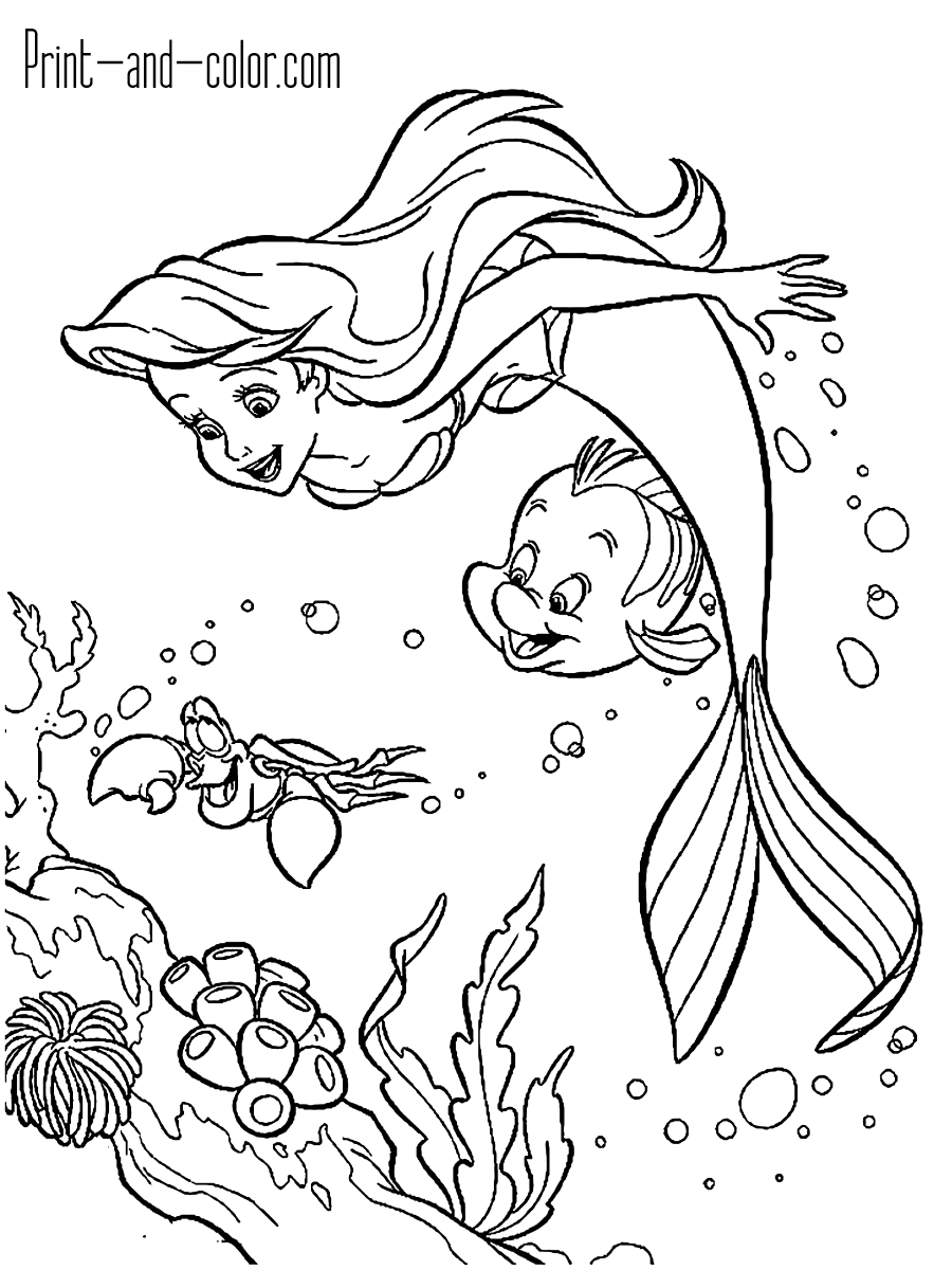 The Little Mermaid Coloring Pages Print And Color Com Mermaid Coloring Book Mermaid Coloring Pages Ariel Coloring Pages
