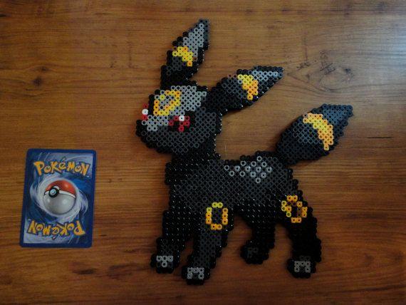 Umbreon Pokemon Perler Bead Sprite
