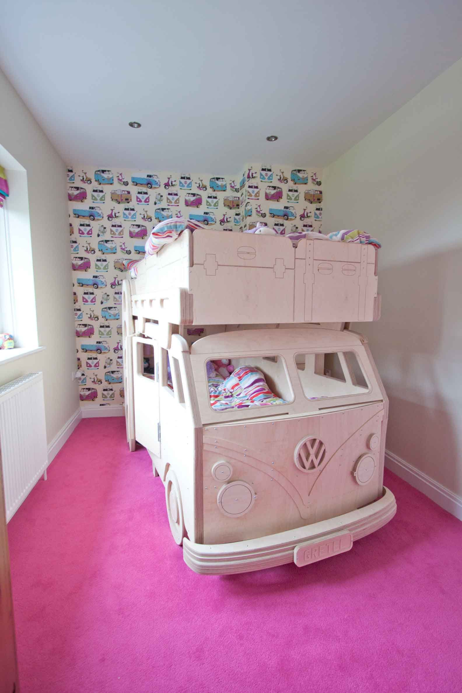 Fun Childrens Beds vw camper bunk bed in situfun furniture collection, home of