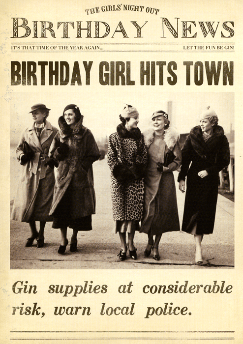 Birthday girl hits town | Funny birthday cards, Happy ...