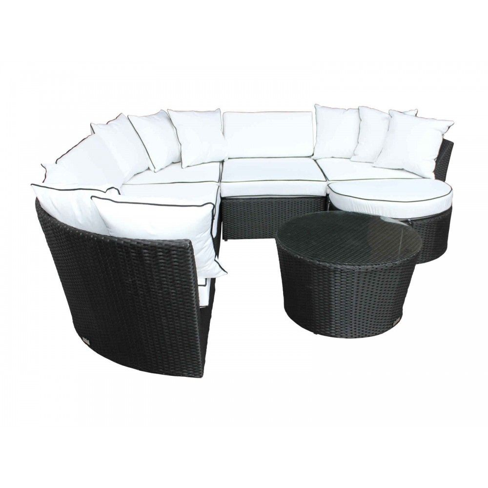 Valencia Corner Sofa Set In Black And Vanilla Corner Sofa Set Sofa Set Corner Sofa