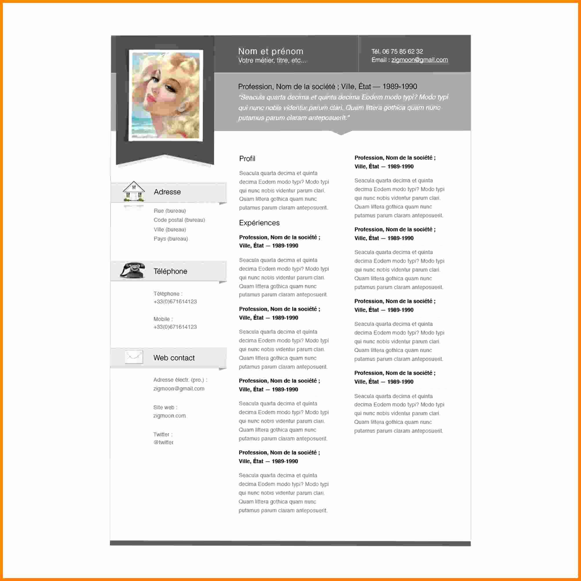 Free Resume Templates for Mac New 6 Cv Pages Template in