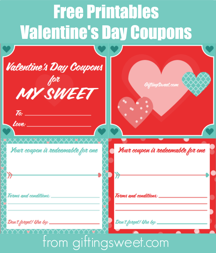 ValentineS Day Coupons  For Your Hubby Bff Or The Kids