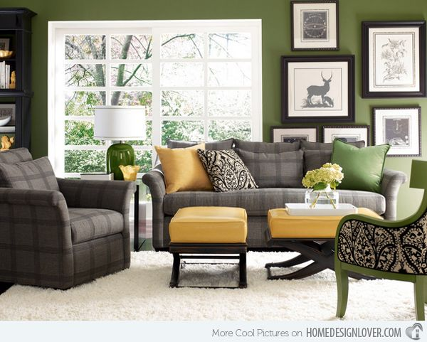 15 Lovely Grey And Green Living Rooms Living Room Decor Gray